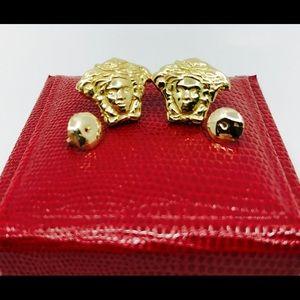 14k Gold Versace Medusa earrings